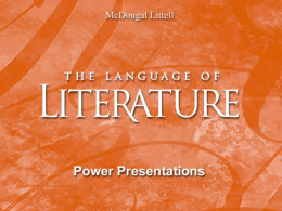 a Response to Literature PowerPoint -