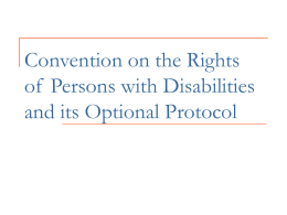 International convention on the Rights of Persons