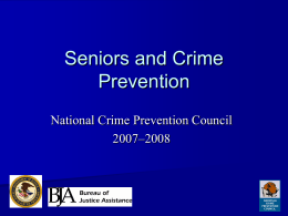Senior Citizens and Crime Prevention