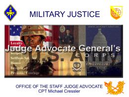 MILITARY JUSTICE - ArmyStudyGuide.com