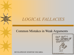 LOGICAL FALLACIES - U-System | University
