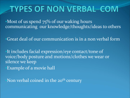 TYPES OF NON VERBAL COM