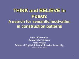 Adessive case in Polish A cognitive perspective on