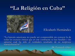 """La Religión en Cuba"""""""
