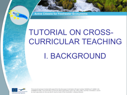 A Cross Curricular Approach