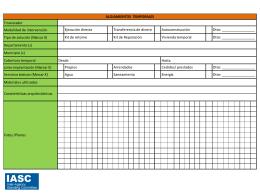 Ficha técnica de Soluciones de alojamiento