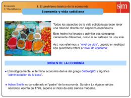 Economía y vida cotidiana