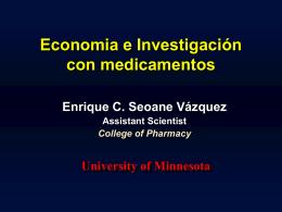 Economía e Investigación en Medicamentos