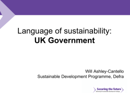 Language of sustainability: UK Government