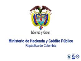 Ministerio de Hacienda y Crédito Público República