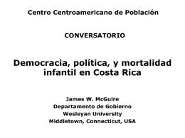 Democracia, política, y mortalidad infantil en