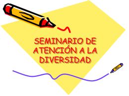 SEMINARIO DE ATENCIÒN A LA DIVERSIDAD