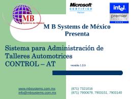 MB Systems de México Presenta