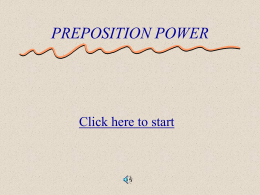 Preposition Power