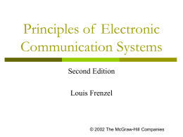 Introduction To Electronic Communication -