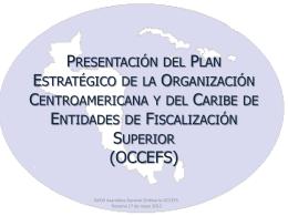 Presentación Plan Estratégico de la OCCEFS