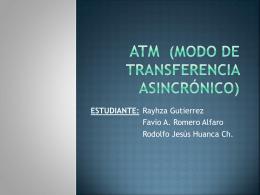 ATM (Modo de Transferencia Asincrónico)