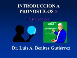 Introducción a Pronósticos