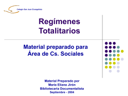 Regímenes Totalitarios - ColegioChile2014`s Blog