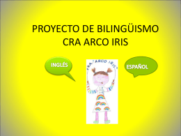 PROYECTO DE BILINGÜISMO CRA ARCO IRIS