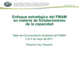 Enfoque estratégico del FMAM en materia de