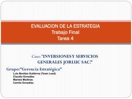 DECISIONES ESTRATEGICAS Dr. Luis Benites Gutiérrez