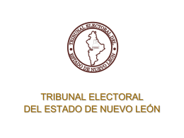 Diapositiva 1 - Tribunal Electoral del Estado de