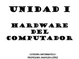 UNIDAD I - Profesora Anaylen López