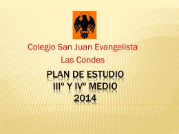 Plan de Estudio IIIº y IVº Medio