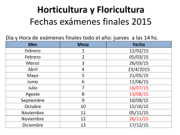 Horticultura y Floricultura Fechas exámenes
