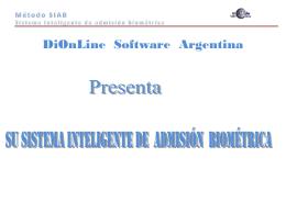Método SIAB Sistema Inteligente de admisión
