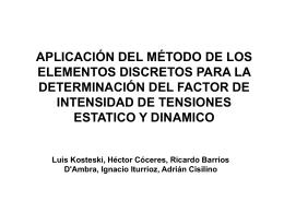 APLICACIÓN DEL MÉTODO DE LOS ELEMENTOS DISCRETOS