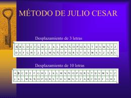 MÉTODO DE JULIO CESAR