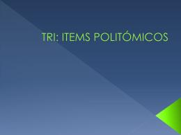 TRI: ITEMS POLITÓMICOS - GrupoInnoevalua : Inicio