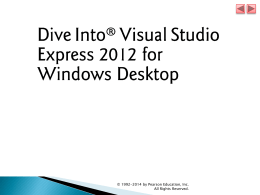 Dive Into® Visual Basic 2010 Express