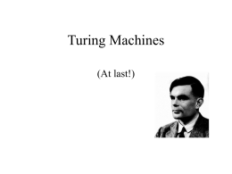 Turing Machines - Lehigh University