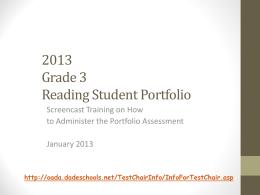 2004 Grade 3 Reading Student Portfolio