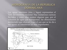 HIDROGRAFÍA DE LA REPÚBLICA DOMINICANA