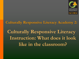 Culturally Responsive Literacy - LeadScape