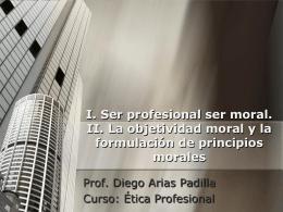 Ser profesional ser moral