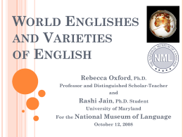World Englishes - National Museum of Language