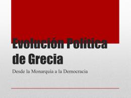 Evolución Política de Grecia
