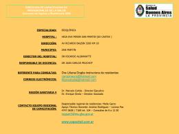 Residencia en Bioquimica Clínica H.I.G.A Eva Perón