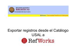 Exportar desde el Catálogo USAL