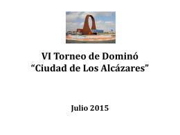 """VI Torneo de Dominó """"Ciudad de Los Alcázares"""""""
