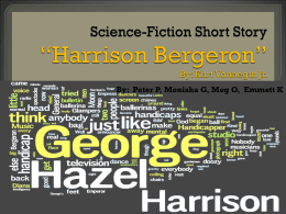 "Science-Fiction Short Story ""Harrison Bergeron"""