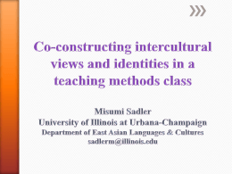 Co-constructing intercultural views and identities