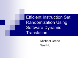 Efficient Instruction Set Randomization Using