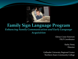 Family Sign Language Program