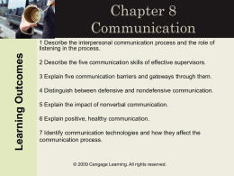 Chapter 8 Communication - Lake Superior State